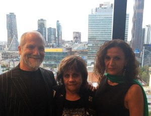Portrait-Building, Myself with Wurundjeri Elder Alice Kolasa (centre) and my wife Cinzia Ruffilli
